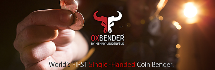 Ox Bender - Borrowed, signed coin melts in spectators hand.